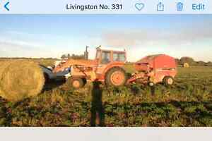 Loader tractor and livestock trailer for sale