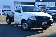 2014 Toyota Hilux TGN16R MY14 Workmate Glacier White 5 Speed Manual Cab Chassis Claremont Nedlands Area Preview