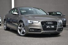 2015 Audi A5 8T MY16 Sportback S tronic quattro Grey 7 Speed Sports Automatic Dual Clutch Hatchback Burwood Whitehorse Area Preview