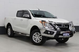 2013 Mazda BT-50 MY13 XTR (4x4) White 6 Speed Automatic Dual Cab Utility Bentley Canning Area Preview