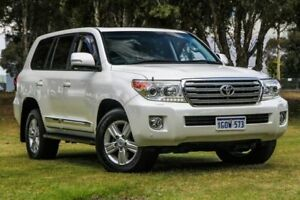 2015 Toyota Landcruiser VDJ200R MY13 Sahara White 6 Speed Sports Automatic Wagon