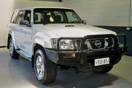 2010 Nissan Patrol GU 7 MY10 ST White 4 Speed Automatic Wagon Blair Athol Port Adelaide Area Preview