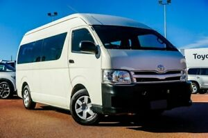 2013 Toyota HiAce KDH223R MY12 Commuter High Roof Super LWB White 5 Speed Manual Bus Balcatta Stirling Area Preview