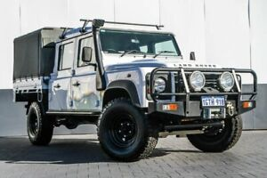 2013 Land Rover Defender 130 13MY Crew Cab White 6 Speed Manual Cab Chassis Maddington Gosnells Area Preview