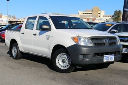 2008 Toyota Hilux TGN16R MY08 Workmate White 5 Speed Manual Utility Northbridge Perth City Preview