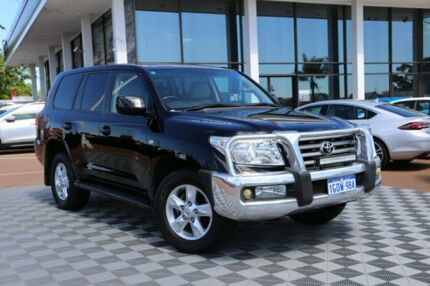 2010 Toyota Landcruiser UZJ200R MY10 Sahara Black/Grey 5 Speed Sports Automatic Wagon Alfred Cove Melville Area Preview