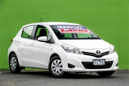 2013 Toyota Yaris NCP130R YR White 5 Speed Manual Hatchback Ringwood East Maroondah Area Preview