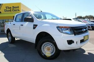 2012 Ford Ranger PX XL Double Cab White 6 Speed Manual Utility Telarah Maitland Area Preview