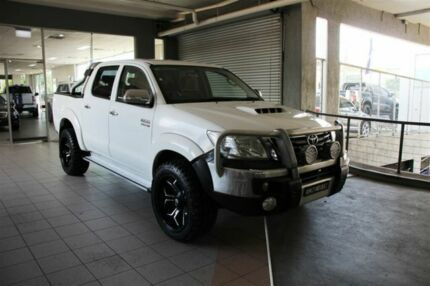 2013 Toyota Hilux KUN26R MY12 SR5 (4x4) White 5 Speed Manual Dual Cab Pick-up Thornleigh Hornsby Area Preview