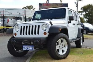 2013 Jeep Wrangler Unlimited JK MY13 Sport (4x4) White 6 Speed Manual Softtop Maddington Gosnells Area Preview