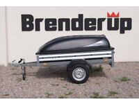 Brand new Brenderup 1205s car box trailer with ABS lid