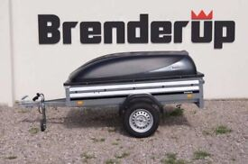 Brand new car box trailer Brenderup 1205s with ABS lid