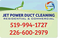 JETPOWER DUCT CLEANING-(FAST/RELIABLE/QUALITY)-START $99+TAX.
