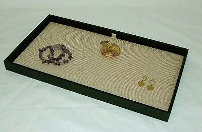 Jewelry Display Case With Natural Color Linen Pad