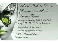 Spray Tans And Hair Extensions