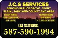 J.C.S is offering Free scrap metal removal We offer junk removal