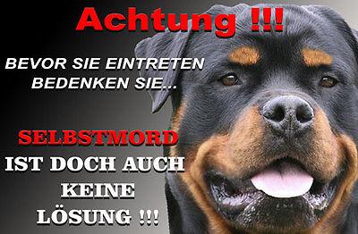 Rottweiler Alu A4 Warnschild (R68)