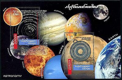 GEORGIA Sc.# 474a Europa 2010 Astronomy Stamp S/S