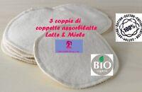 Coppette Assorbilatte Lavabili 6 Pz Cotone Org. 100% Dall' Italia - Allattamento -  - ebay.it