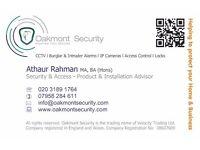 Burglar Alarm & CCTV Installation - Professional Service - Free Site Survey - 1 year on site service