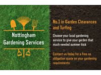 Nottingham Gardening Services. Garden Clearances. Turf Laying. Landscaping.
