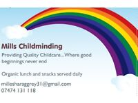 Childminder with spaces