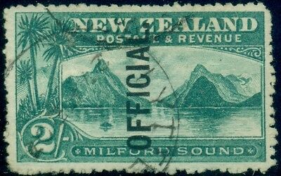 NEW ZEALAND #O29, 2SH OFFICIAL, USED, VF, SCOTT $150.00