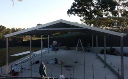 gable carport   9   x  6   $  2700