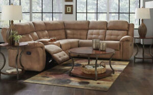 Dark brown sectional couch