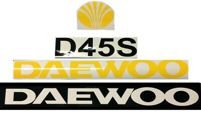 Daewoo D45s Forklift Reach Boom Decal Set Sticker Emblem Kit Lk D 45 S