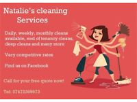 Natalie's cleaning services