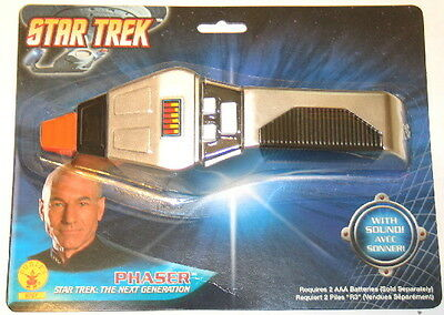 Star Trek: The Next Generation Authentic Phaser Costume Toy Rubies NEW SEALED
