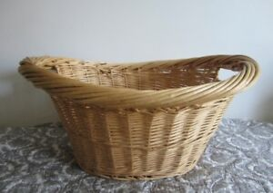 2 wicker basket, cushion form, small cushions … $8