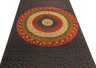 TWIN MANDALA CHAKRA TAPESTRY DÉCOR BOHEMIAN TAPESTRY INDIAN THROW BEDSPREAD