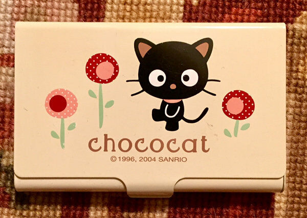 CHOCOCAT SANRIO METAL BUSINESS CARD HOLDER FROM 2004 RARE