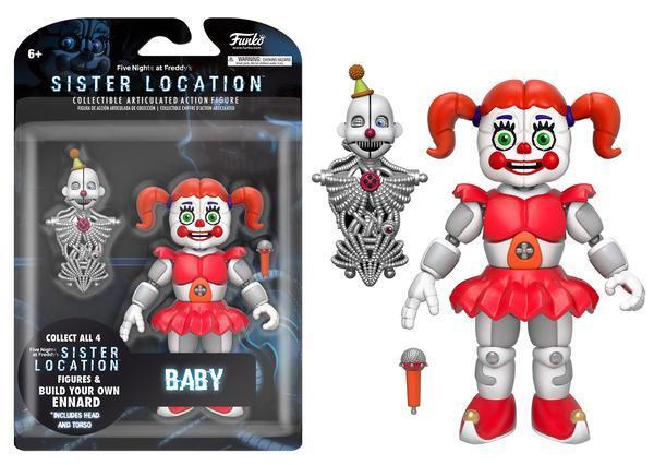 """FIVE NIGHTS AT FREDDY'S SISTER LOCATION 5"""" FIGURES ENNARD BALLORA BABY 2017 NEW"""