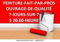 Peintre-Tireur de Joints,25 Ans Exp.$ 20.00 hrs 418 931-9332