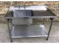 Right hand drainer sink