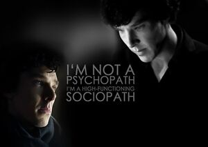SHERLOCK HOLMES Benedict Cumberbatch Quote Poster Legend TV Series BRITISH CULT