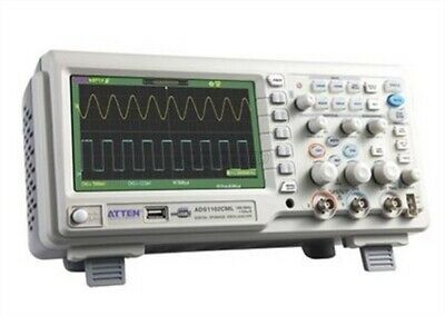 Atten Ads1102cml100mhz Digital Oscilloscope Scope 7 Lcd Dso Memory Upto 2mpt Ct