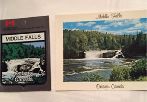 Middle Falls postcard and decal