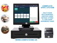 """All in one 15"""" touch screen ePOS system for restaurants, takeaways, retail shops"""