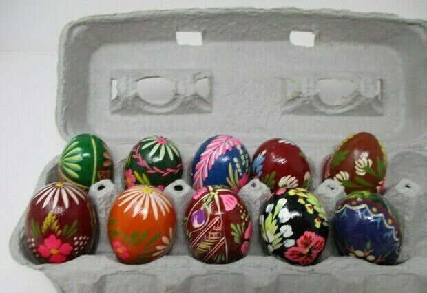 10 Hand Painted Real Eggs