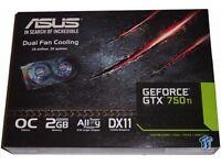 ASUS GEFORCE GTX 750 ti 2GB Graphics card
