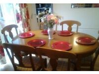 Solid French oak table (MAKE ME AN OFFER)