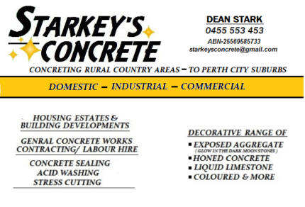 STARKEY'S CONCRETE/ Domestic-Inustrial-Commercial