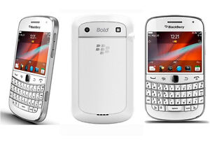 White Blackberry Bold 9900 With Case @ One Stop Cell Shop