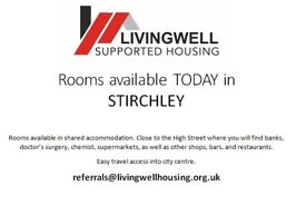 Rooms Available TODAY in STIRCHLEY