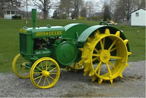 John Deere D steel wheels