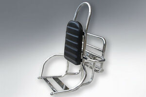 Vespa Lambretta LML Rack 4 in 1 Carrier Backrest 3 in 1 Stainless
